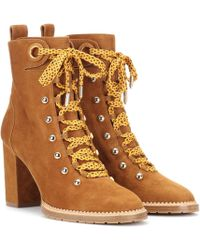 Aquazzura - Suede Ankle Boots - Lyst