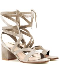 Gianvito Rossi - Janis Low Suede Sandals - Lyst