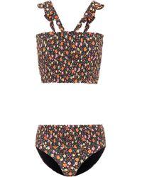 Ganni | Ipanema Floral-printed Bikini | Lyst