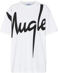 Mugler - Printed Cotton T-shirt - Lyst