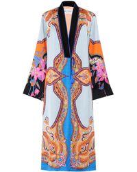 Etro - Printed Kimono Jacket - Lyst