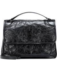 07a7d5b49cab Saint Laurent - Large Niki Leather Shoulder Bag - Lyst