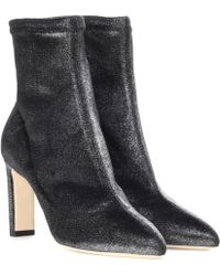 Jimmy choo Louella glittered velvet sock ankle boots Prices Sale Online Supply Online Discount Latest Discount Footlocker Buy Cheap Official 7bdzGcn