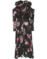 Preen By Thornton Bregazzi - Penny Floral Silk Dress - Lyst