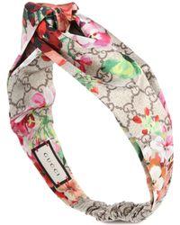 994da2d208b Gucci - Printed Silk-satin Headband - Lyst
