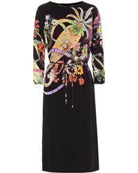 Etro Bedrucktes Kleid mit Seidenanteil