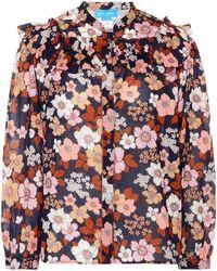 M.i.h Jeans - Hayden Floral Cotton Blouse - Lyst
