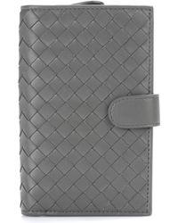 Bottega Veneta - Continental Intrecciato Leather Wallet - Lyst