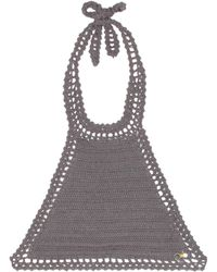She Made Me - Essential Crochet Bikini Top - Lyst