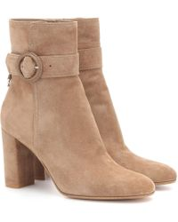 Gianvito Rossi - Leyton 85 Suede Ankle Boots - Lyst