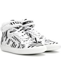 Pierre Hardy Mytheresa.com Exclusive Printed Leather High-top Sneakers
