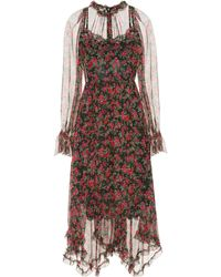 Dolce & Gabbana - Floral-printed Silk Dress - Lyst