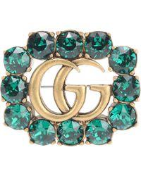 Gucci - Crystal-embellished Brooch - Lyst