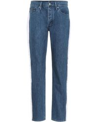 Calvin Klein - High-waisted Taped Jeans - Lyst