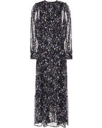 Isabel Marant - Maxene Fil Coupé Silk Dress - Lyst