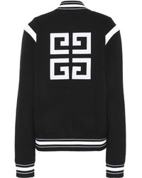 Givenchy - Knitted Wool Varsity Cardigan - Lyst