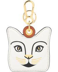 Loewe - Cat Leather Bag Charm - Lyst