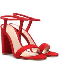 6a2d6be103a08 Lyst - Michael Kors Nikki Crystal-heel Platform Sandal in Black