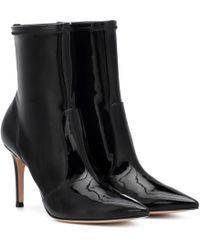 Gianvito Rossi Imogen Vinyl Ankle Boots - Black