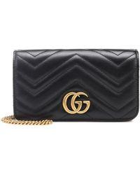 Gucci - GG Marmont Mini Leather Shoulder Bag - Lyst