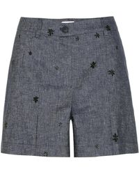 Tomas Maier - Shorts di jeans con ricami - Lyst