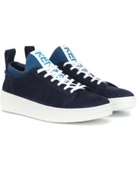 KENZO - K-city Suede Sneakers - Lyst