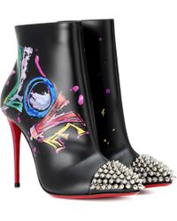 84a9a6416 Christian Louboutin - Botines de piel Love Is A Boot 100 - Lyst