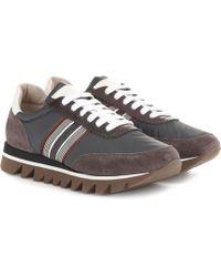 Brunello Cucinelli - Zapatillas de gamuza adornadas - Lyst