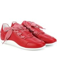 Roger Vivier | Striped Ribbon Leather Trainers | Lyst