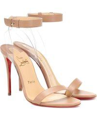 ee9bb5c758cf Christian Louboutin - Jonatina 100 Leather Sandals - Lyst