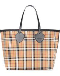 Burberry - Reversible Check Shopper - Lyst