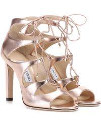 51bad99a58125f Jimmy Choo - Blake 100 Leather Sandals - Lyst