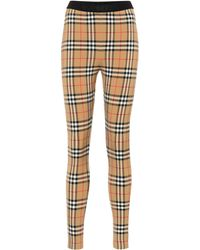 Burberry - Leggings con estampado de cuadros - Lyst