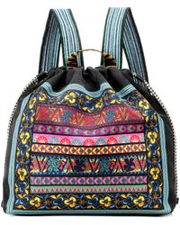Etro - Embroidered Pattern Backpack - Lyst