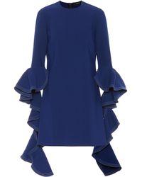e665aefe7d13 Jason Wu Women's Cascading Peplum Midi Dress - Dark Navy - Size 8 in ...