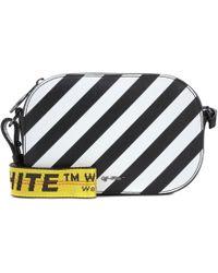Off-White c/o Virgil Abloh - Striped Leather Shoulder Bag - Lyst
