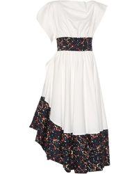 Rosie Assoulin - Bubble Tea Length Poplin Dress - Lyst