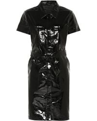 J Brand - Lucille Patent Leather Shirt Dress - Lyst