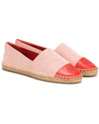 Tory Burch - Canvas And Leather Espadrilles - Lyst