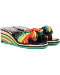 Chloé - Jody Leather Wedge Sandals - Lyst