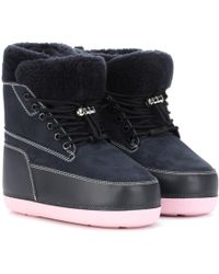 bd4cd135285 KENZO - Suede And Leather Ankle Boots - Lyst