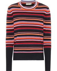 Tory Burch - Kit Striped Cashmere-blend Sweater - Lyst