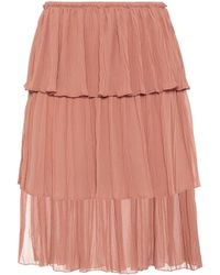 See By Chloé - Tiered Knee-length Skirt - Lyst