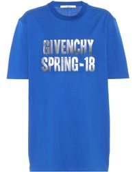 Givenchy - Printed Cotton T-shirt - Lyst