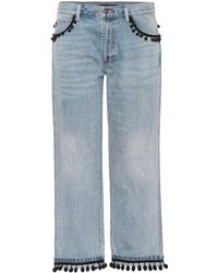 Marc Jacobs - Verzierte Cropped Jeans aus Baumwolle - Lyst