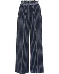 Jonathan Simkhai - Pantalones anchos de rayas - Lyst