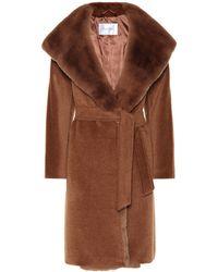 Max Mara - Sublime Fur-trimmed Alpaca And Wool Coat - Lyst