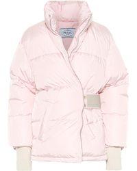 Prada - Down Nylon Gabardine Jacket - Lyst