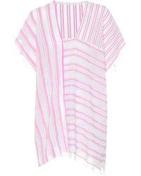 lemlem - Alfie Striped Cotton Caftan - Lyst
