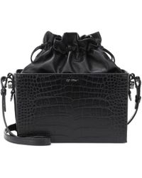 Off-White c/o Virgil Abloh - Crocodile Embossed Leather Bag - Lyst